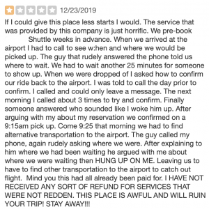 Bad Honolulu Airport Shuttle Service Reviews